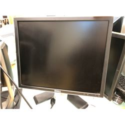 "Qty 2 Dell Ultra sharp 19"" LCD Flat Panel Monitor Model 1907FP, Dell keyboard, wireless mouse and 2"