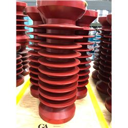 "Qty 5 10 1/2"" insulators 38KV"