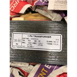 Qty 3 Single phase transformer, 1000V-120, VA501