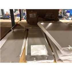 Assorted aluminum panels