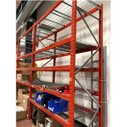 "Orange pallet racking 2 section 90"" x 42"" x 12' (shelving only)"