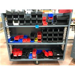 Library cart 60  x 30  x 57  6 shelfs includes plastic bins