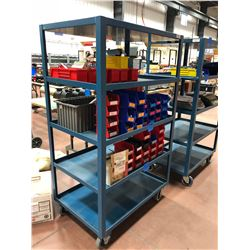 Rolling parts cart 5 shelf 24  x 36  x 61  (cart only)