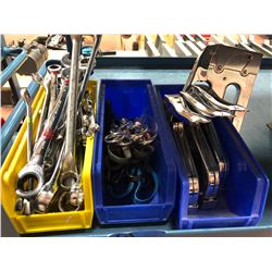 Assorted wrenches, scissors & staplers