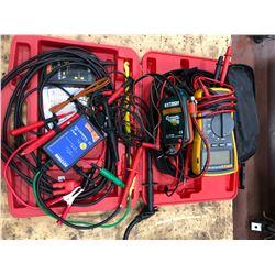 Fluke 115 Multimeter, Extech Continuity tester, ECT2000 Smart Receiver power probe Qty 2
