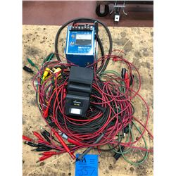 Assorted test leads, camera flash, ground fault tester