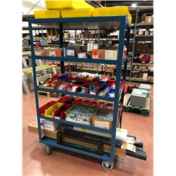 "Rolling parts cart 5 shelf 24"" x 36"" x 61"" (cart only)"