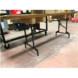 "Wooden collapsible table 96"" x 24"" x 35"" (table only)"