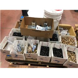 "1 pallet boxes A325 1/2"" construction hardware assorted lengths"