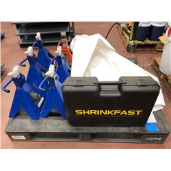 Shrink fast Marine wrapping kit includes torch (no propane), 6 - 6 ton jack stands