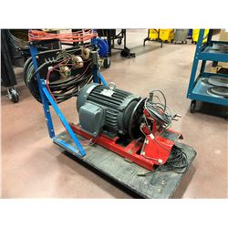 Load testing motor with brake 3ph 10 hp 575 volt