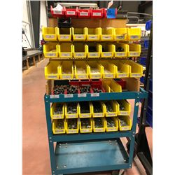 Rolling parts cart 30 x 18 x 63 includes contents