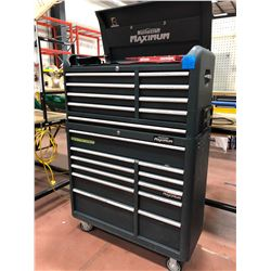 2 piece Mastercraft Maximum tool box, includes assorted tools in drawers