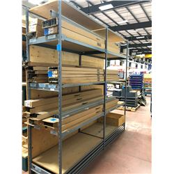 "Steel shelving 100"" x 25"" x 96"" x  10 shelves (shelving only)"
