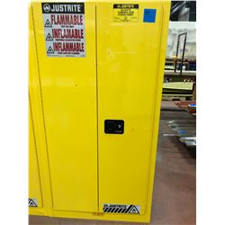 "JUSTRITE flammable liquid storage cabinet 34"" x 34"" x 65"" 3 shelves no key"