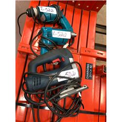 Makita 120v drills Qty 2, Bosch 120v jigsaw