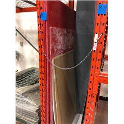 """3/4"""" Glastic sheets 36 1/2"""" x 72"""" Qty 2 plus partial, Scrap puck board, Lexan, 2 scrap 3/16 Glastic"""