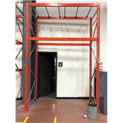 Orange Pallet racking 1 section (wire racks included)