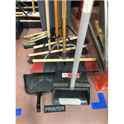 "3 - 24"" push brooms,  3 - hand brushes, 2 dustpans, 1 lobby dustpan, 1 broom handle, squeegee"