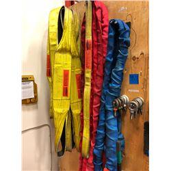 Tuflex blue slings Type: EN240 4' qty 2, Tuflex red slings Type: EN150 6' qty 4, LiftAll Type: 3EE2-