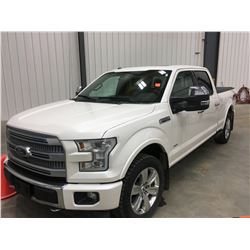 2017 F-150 Platinum 42,000 kms, 4x4, All Options, Leather, Hitech Package, Remote Running Boards, Su