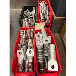 Assorted Burndy crimp lugs N60, N125, N300, N350, 500 KCMIL, 750 KCMIL