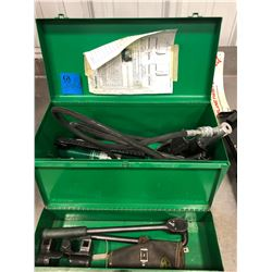 Greenlee 767 hydraulic hand pump cable bender, Greenlee 796 cable bender, conversion posters.