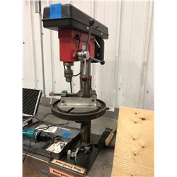 Westward floor drill press 1/2 hp mod DP170F c/w e-stop, vise, 2 clamps, dustpan, hand brush