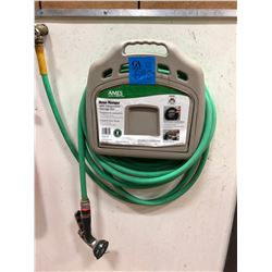 Ames hose hanger with storage bin c/w hose