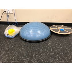 Go One balance trainer, Bosu ball balance trainer, air pump