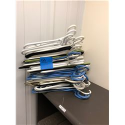 Assorted coat hangers