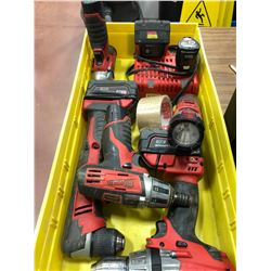 Milwaukee M18 drill , M18 angle drill, M18 battery, M12 driver, M12 battery, M12 flashlight, M12 imp