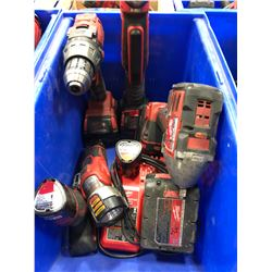Milwaukee M18 drill , M18 impact, M18 angle drill, M18 battery, M12 driver, M12 flashlight, M12 batt