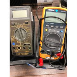 Tenma multimeter model 72-7745, BK precision model 815