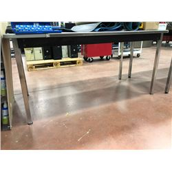 "Metal clad table 60"" x 30"" x 29"" (table only)"