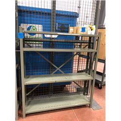 "Steel shelving 35"" x 18"" x 50 3 shelves, 35"" x 15"" x 76"" 6 shelves, 48"" x 12"" x 56"" 4 shelves"