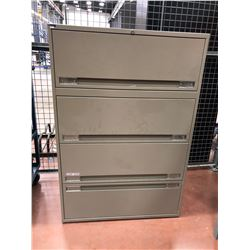 "Dark grey office file cabinet 36"" x 18"" x 53"""