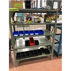 """Steel shelf 37"""" x 18"""" x 50"""" 5 shelf (includes only empty blue plastic bins)"""