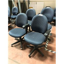 Office chair grey adjustable qty 5, wear & tear
