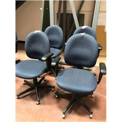 Office chair blue pattern adjustable qty 4
