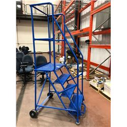 Canway rolling staircase 400 lb. max, Model 4H, Canway rolling step stool Mod 4NH, Canway rolling st