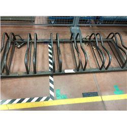6 spot steel bike rack
