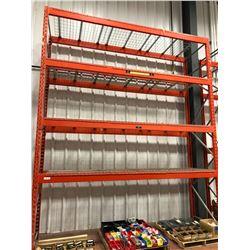 Orange Pallet racking 1 section 4 shelves (shelving only)