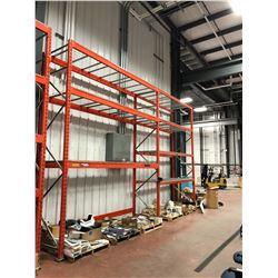 Orange Pallet racking 2 section 7 shelves (shelving only)