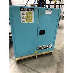 "Justrite ACID & Corrosive cabinet 43"" x 18"" x 44 1/2"" 2 shelfs"