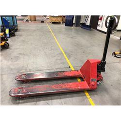 "Johnston pallet jack 20 1/2"" fork span 5000 lbs. capacity"