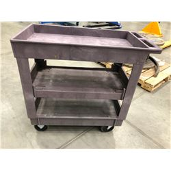 "Resin rolling coffee cart 31"" x 17"" x 33"" 3 shelves (cart only)"
