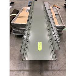 Steel shelving mismatched