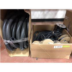 "Assorted closed cell gasket, 1 1/2"" loom, assorted door gasket, 500' half round gasket NEW, 3/8 slee"