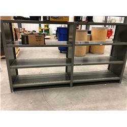 "Steel shelf 72"" x 15"" x 40"" 8 shelves (shelving unit only)"